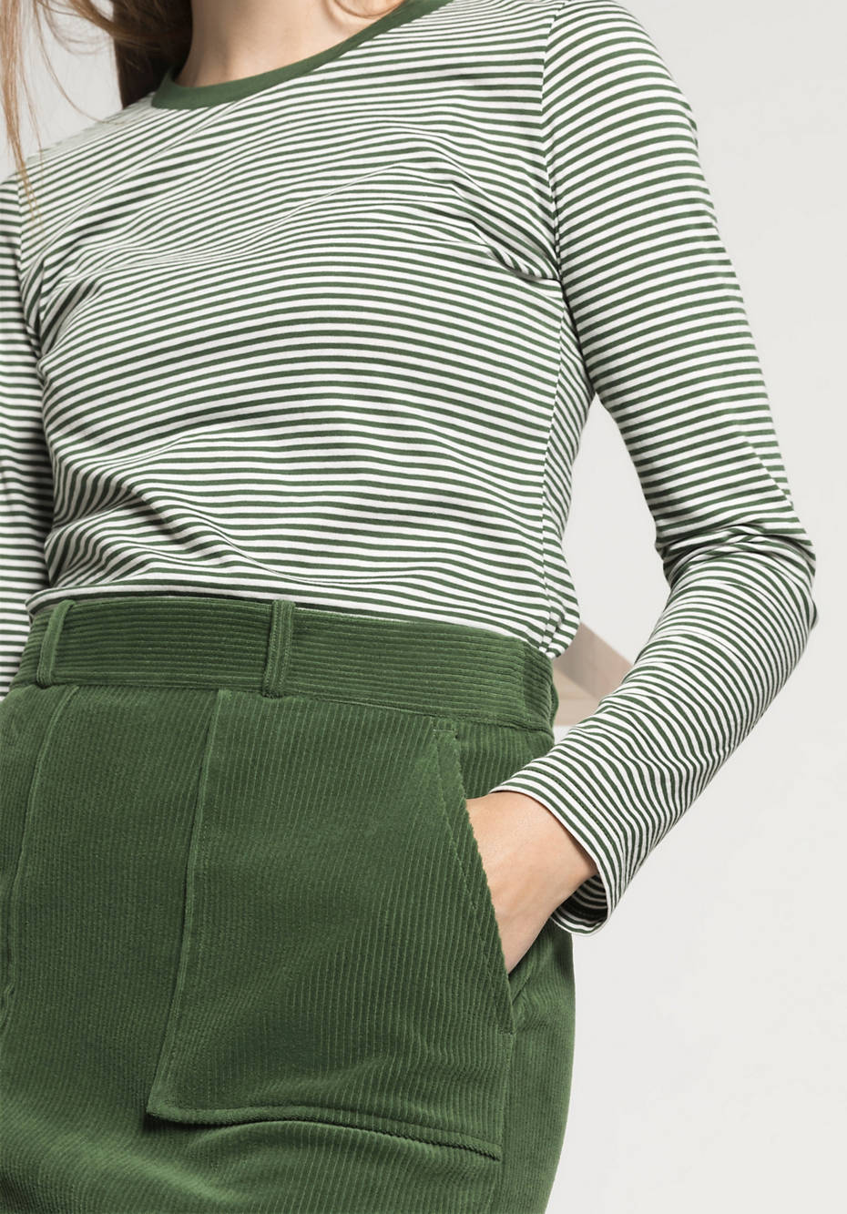 Cord skirt made of pure organic cotton