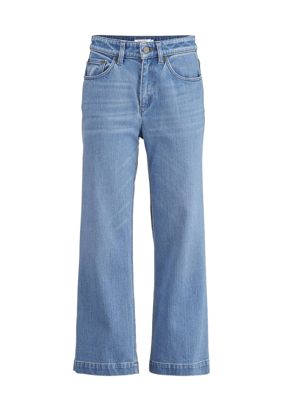 Cropped flared jeans made of organic denim