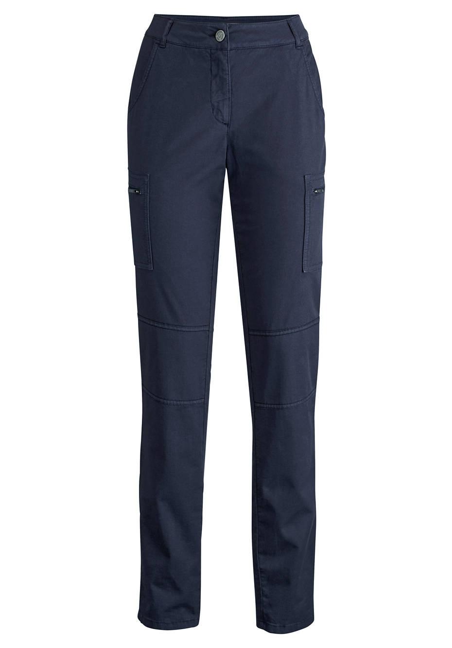 Damen Cargo-Hose aus Bio-Baumwolle mit Leinen und Elasthan