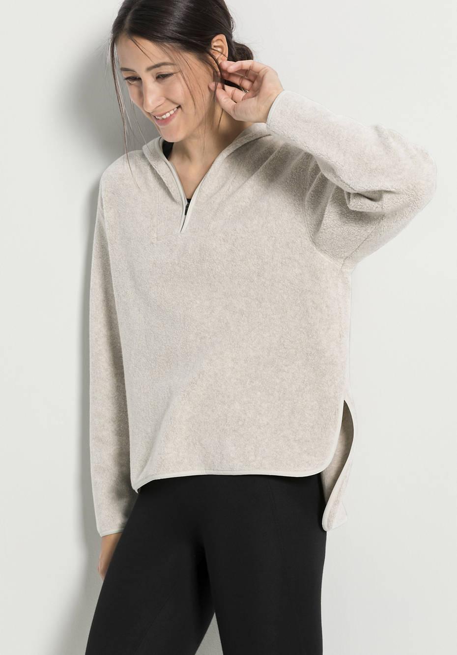 Damen Fleece-Hoodie aus reiner Bio-Baumwolle