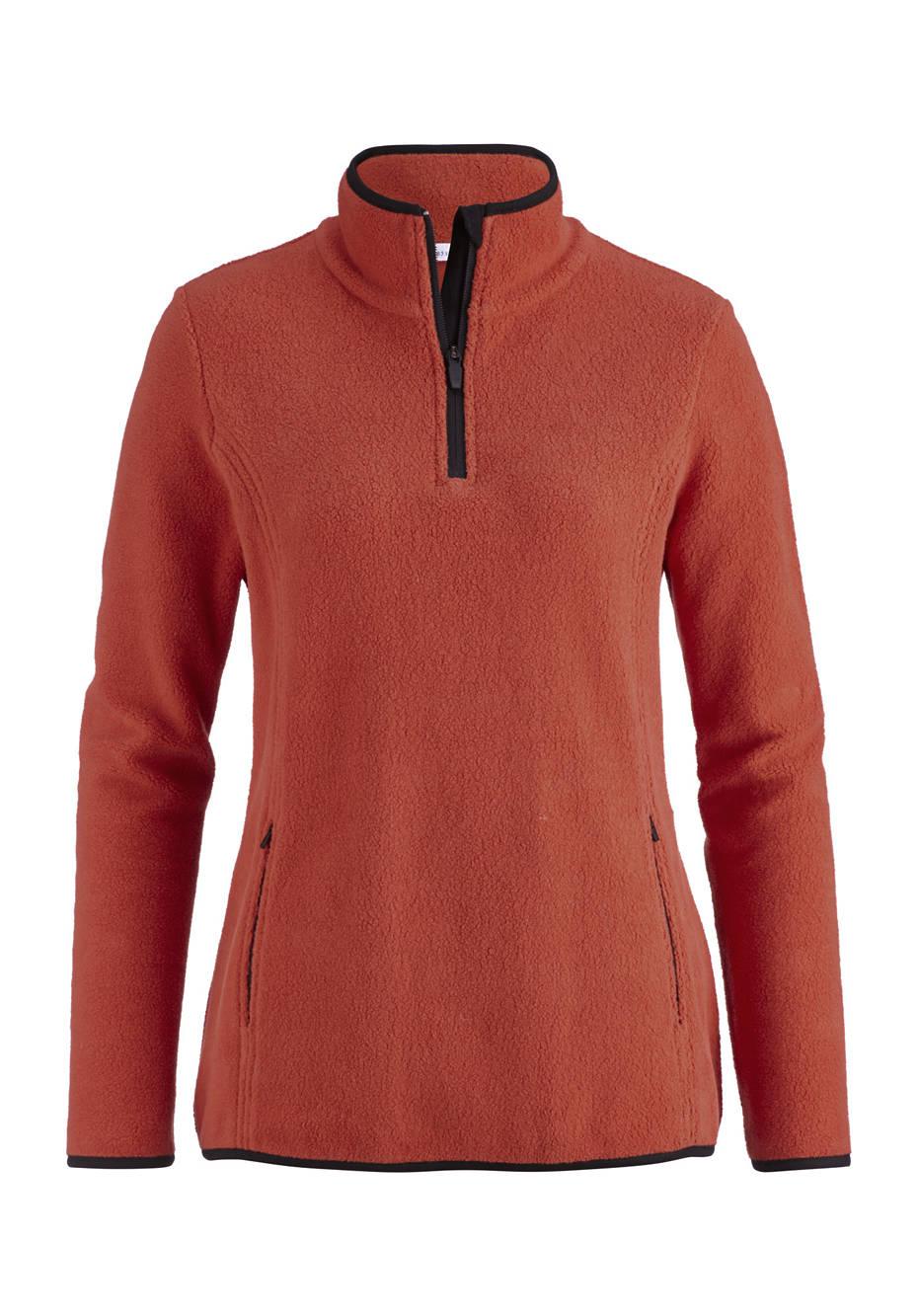 Damen Fleece-Troyer aus reiner Bio-Baumwolle