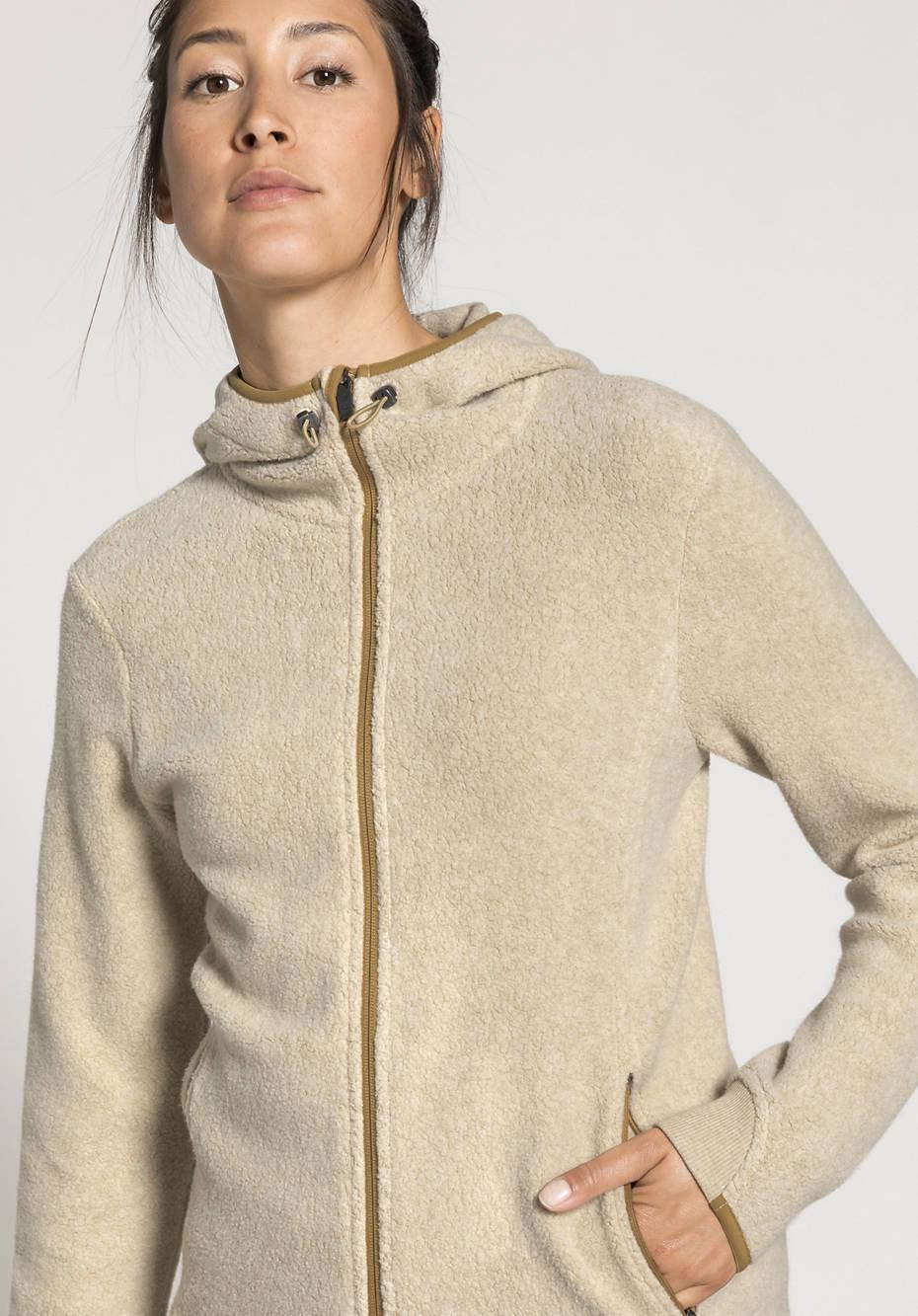 Damen Fleecejacke aus reiner Bio-Baumwolle