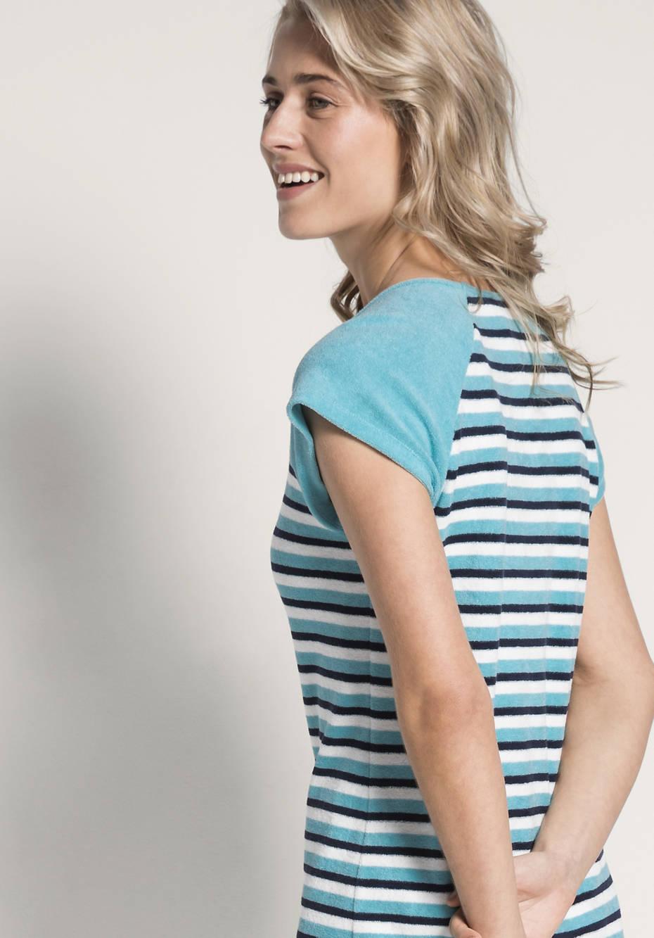 Damen Frottee-Nachthemd aus reiner Bio-Baumwolle