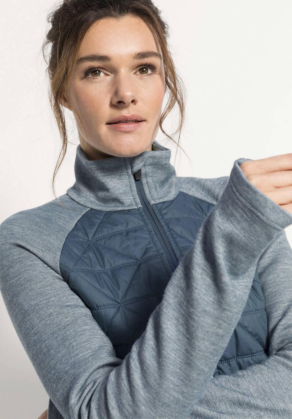 Damen Funktionsjacke aus Bio-Merinowolle mit Bio-Baumwolle