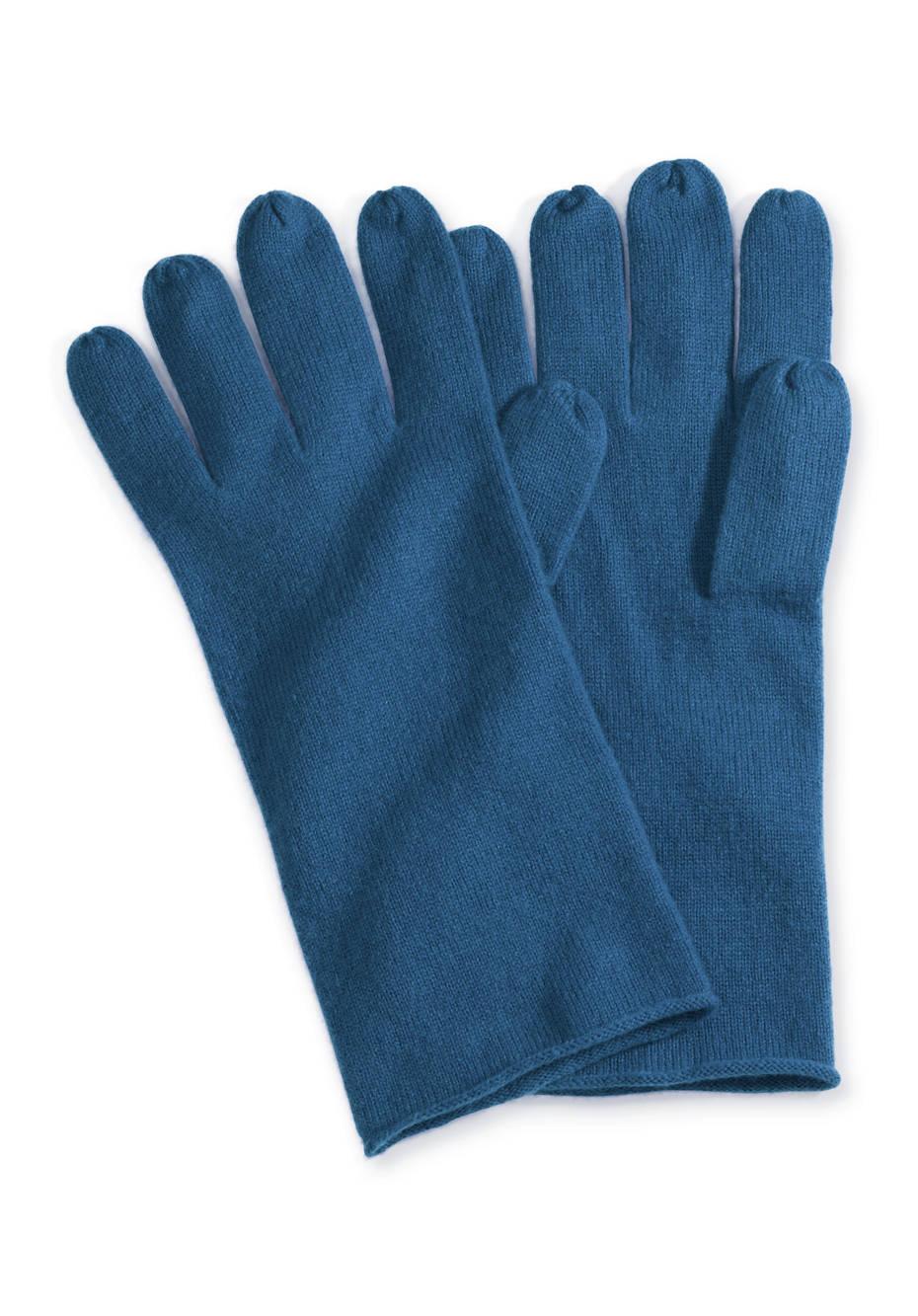 Damen Handschuhe aus Schurwolle mit Kaschmir
