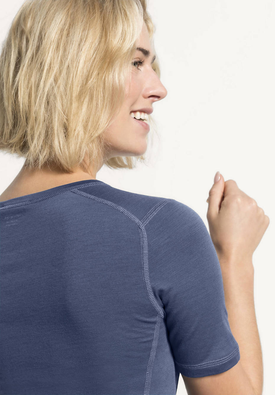 Damen Kurzarm-Shirt aus Merinowolle