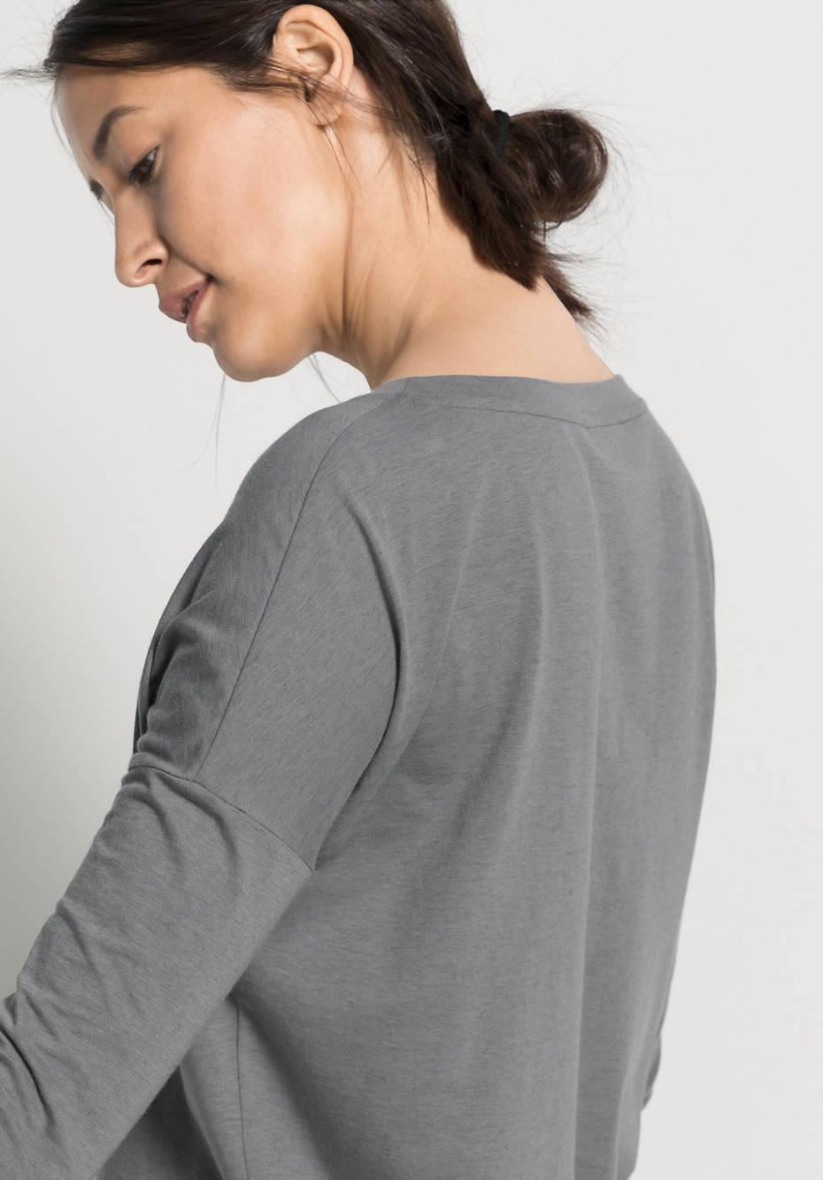 Damen Langarm-Shirt aus Bio-Baumwolle mit Schurwolle