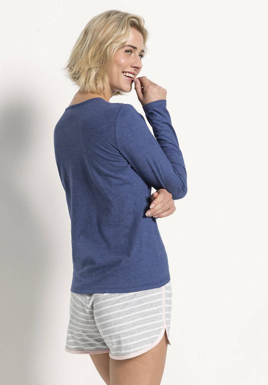 Damen Langarm-Shirt aus reiner Bio-Baumwolle