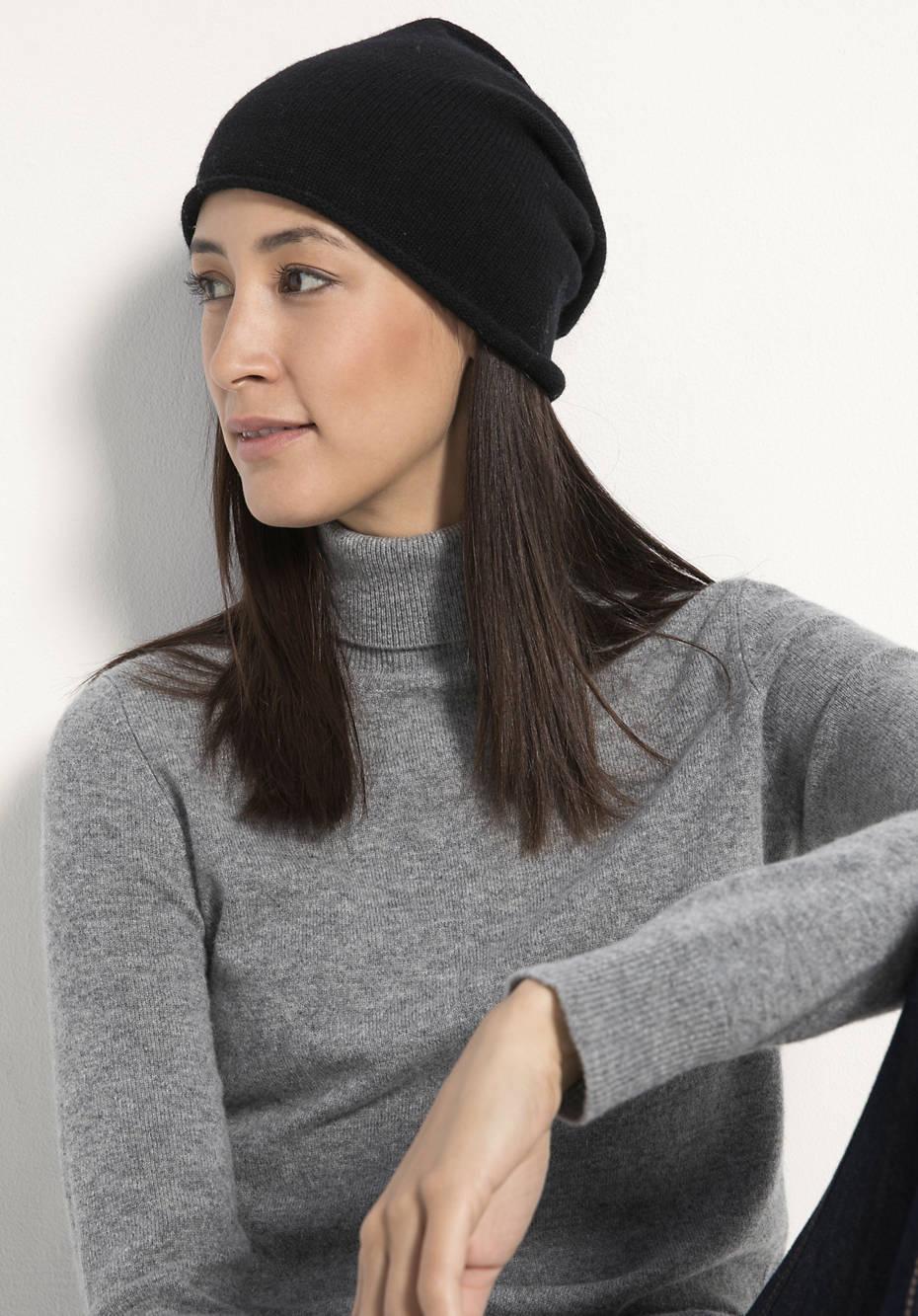 Damen Mütze aus Schurwolle mit Kaschmir