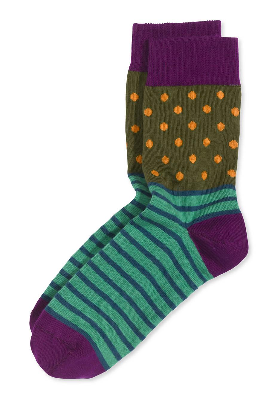 Damen Mustermix-Socke aus Bio-Baumwolle