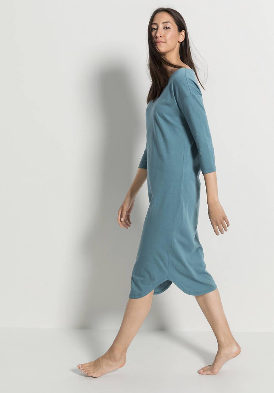 Damen Nachthemd aus Bio-Baumwolle mit Seide