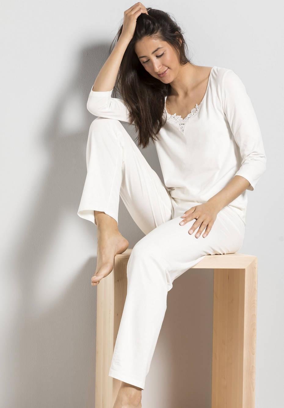 Damen Pyjama aus Bio-Baumwolle