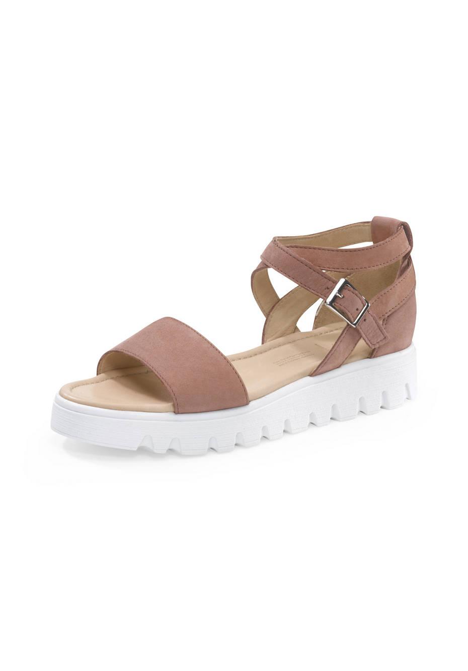 Damen Sandalette aus Nubukleder