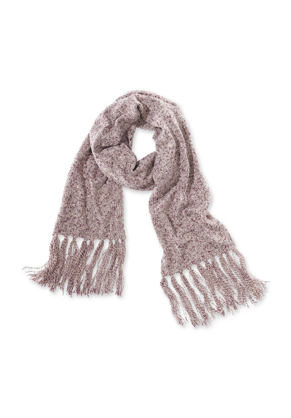 Damen schal aus schurwolle mit bio baumwolle hessnatur for Schal binden damen