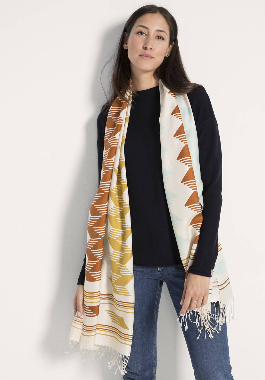 Damen Schal aus reiner Seide