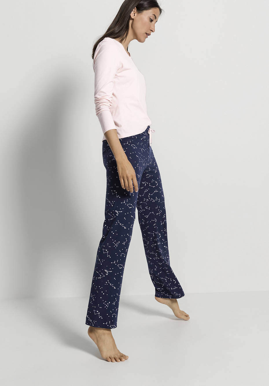Damen Schlaf-Shirt aus reiner Bio-Baumwolle