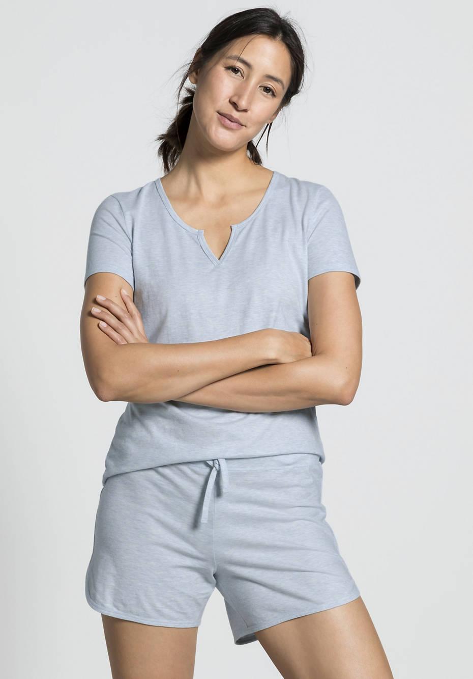 Damen Schlaf-Shorts aus reiner Bio-Baumwolle