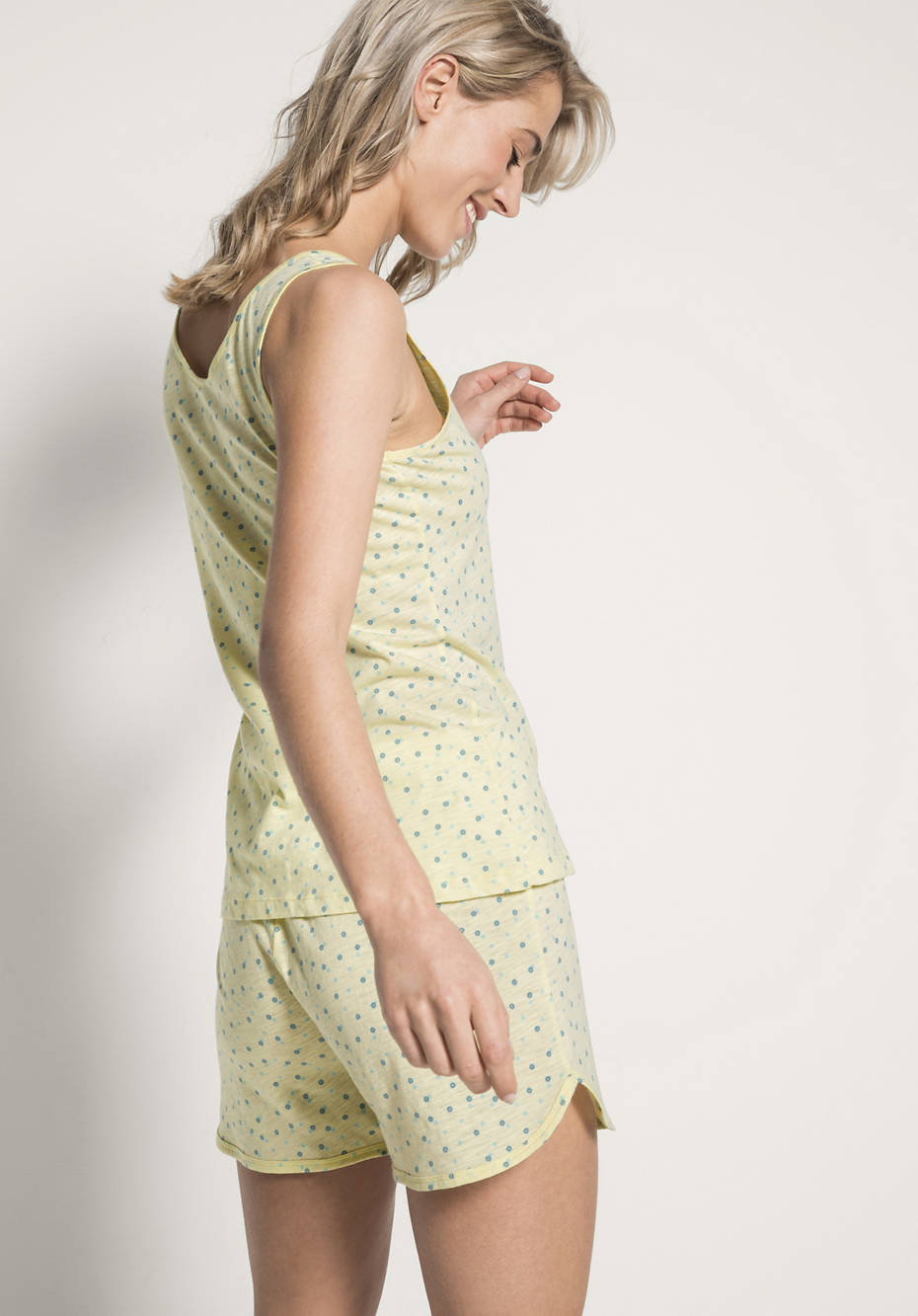 Damen Schlaf-Top aus reiner Bio-Baumwolle