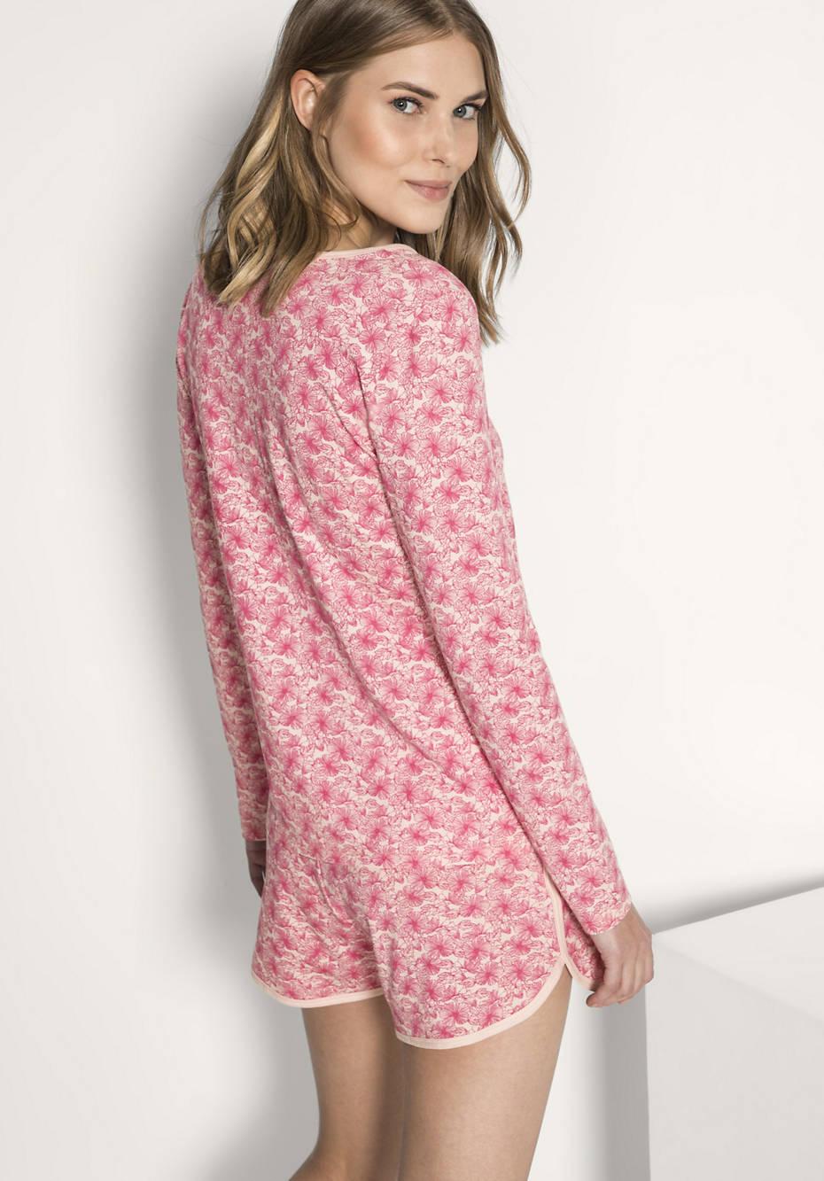 Damen Schlafshirt aus reiner Bio-Baumwolle