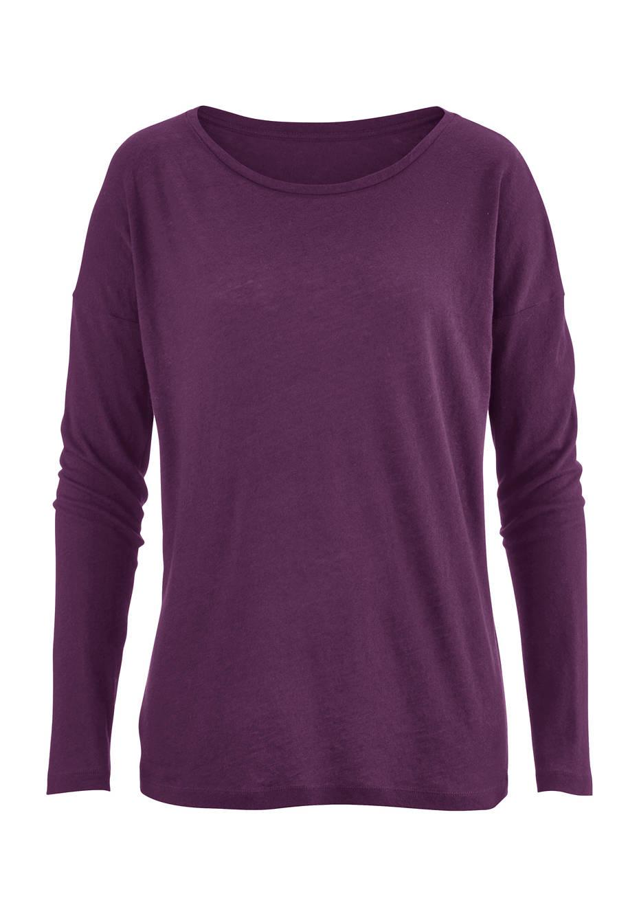 Damen Shirt aus Bio-Baumwolle mit Schurwolle