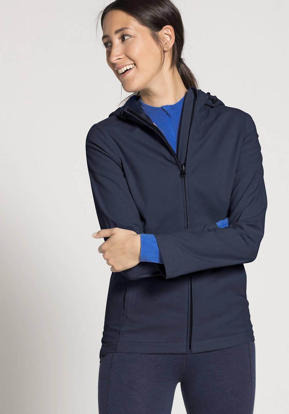 Damen Softshell-Jacke aus reiner Bio-Baumwolle