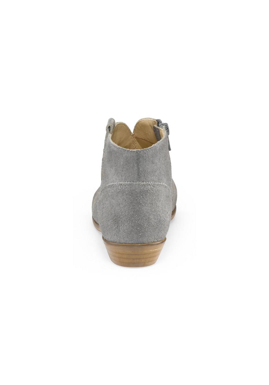 Damen Stiefelette aus Veloursleder