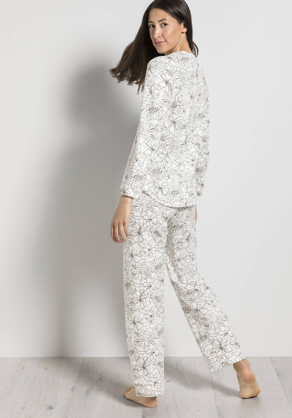 Damen Winter-Pyjama aus reiner Bio-Baumwolle