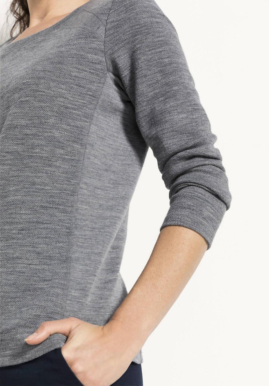 Damen Woll-Sweatshirt aus reiner Bio-Merinowolle