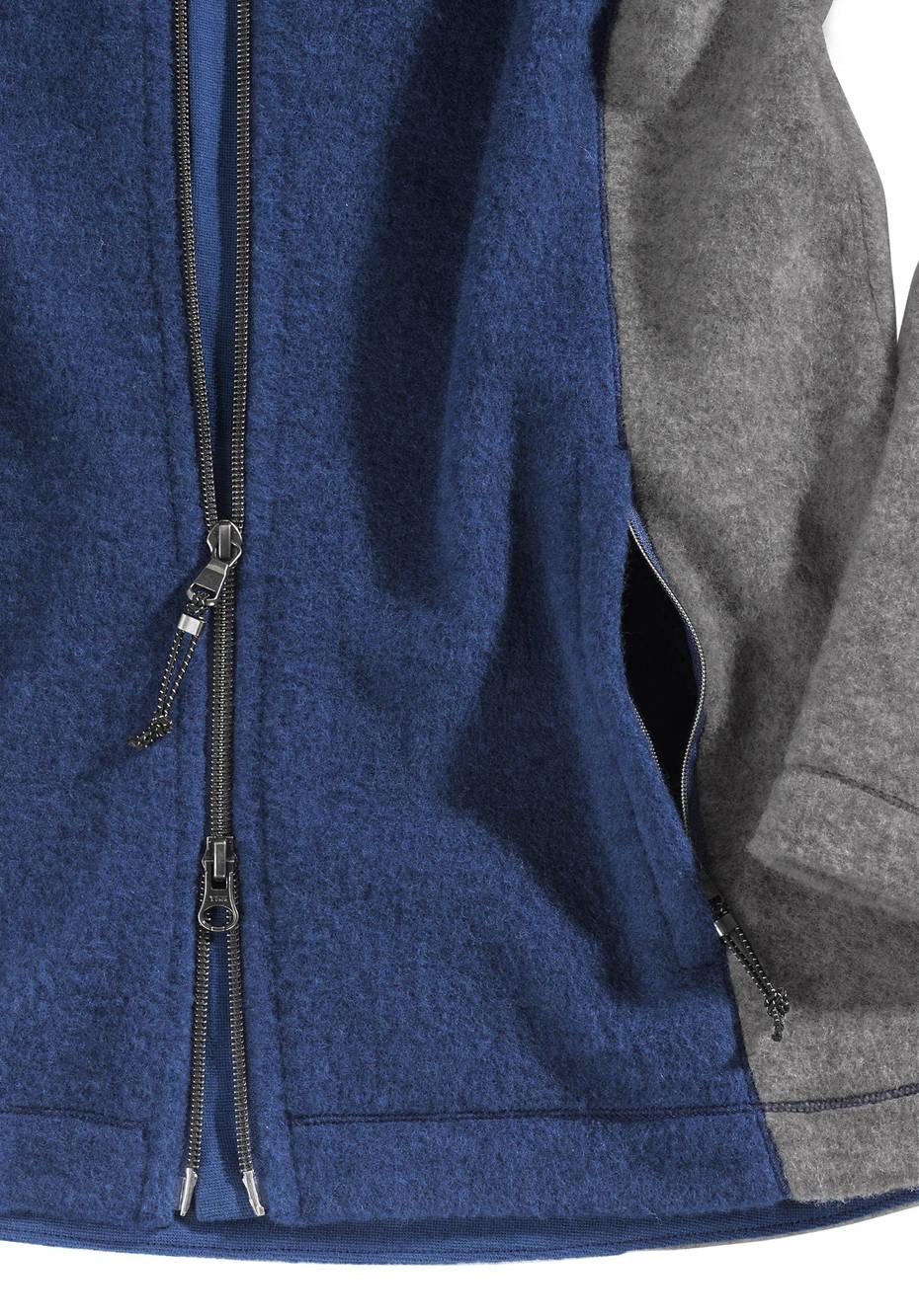 Damen Wollfleece Jacke aus reiner Bio-Merinowolle