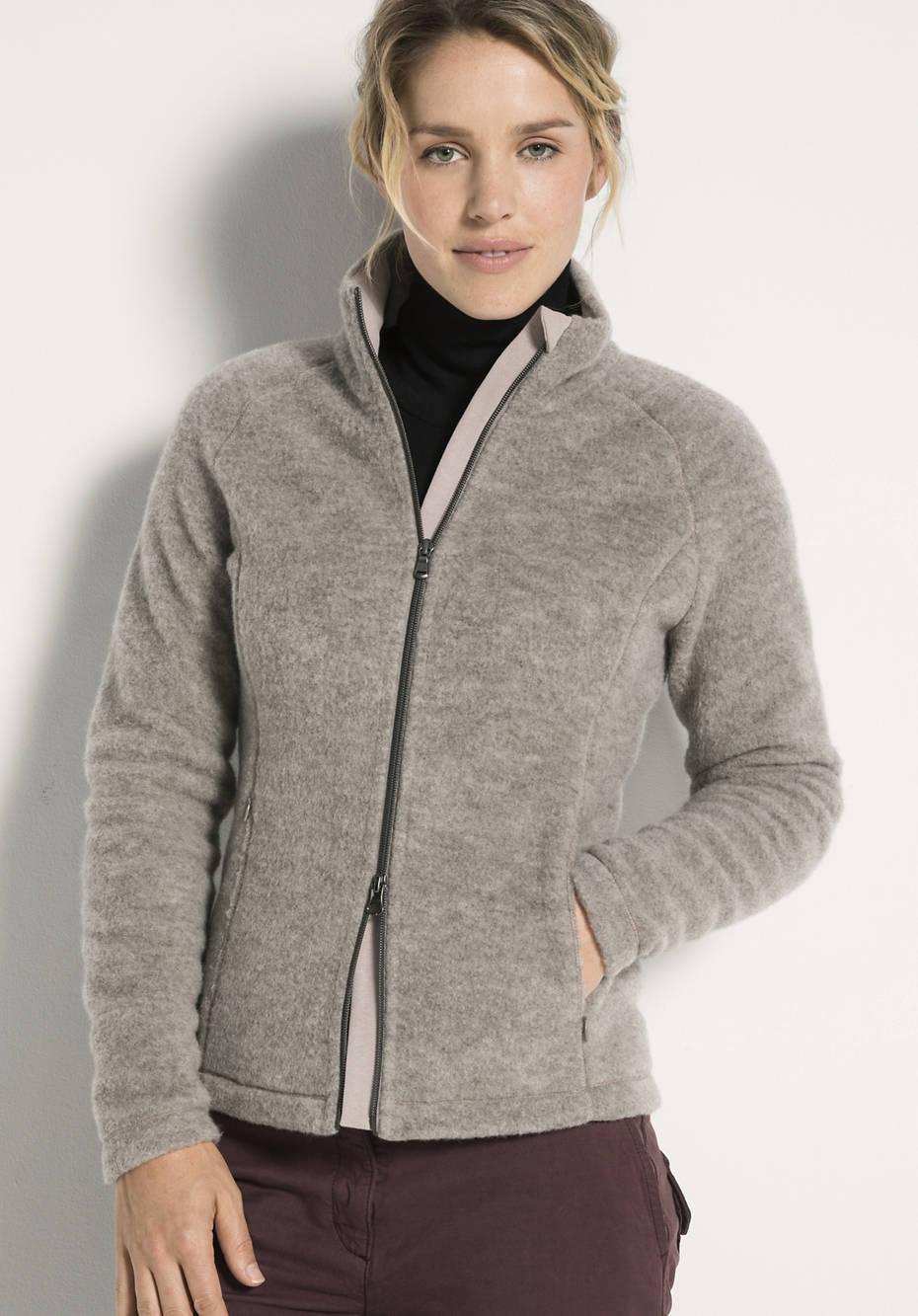 Damen Wollfleece-Jacke aus reiner Schurwolle
