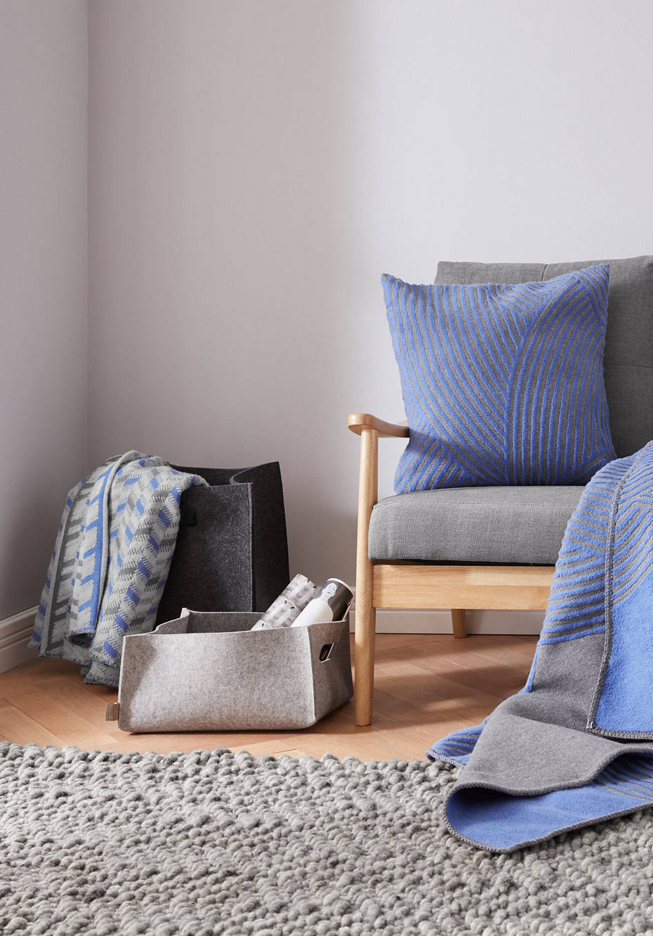 Decke Jumi aus reiner Bio-Baumwolle