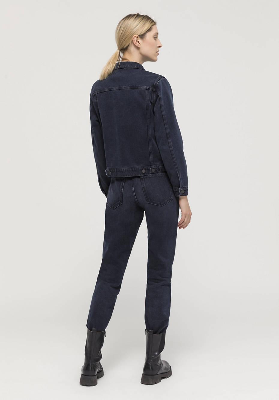 Denim jacket made from pure organic denim