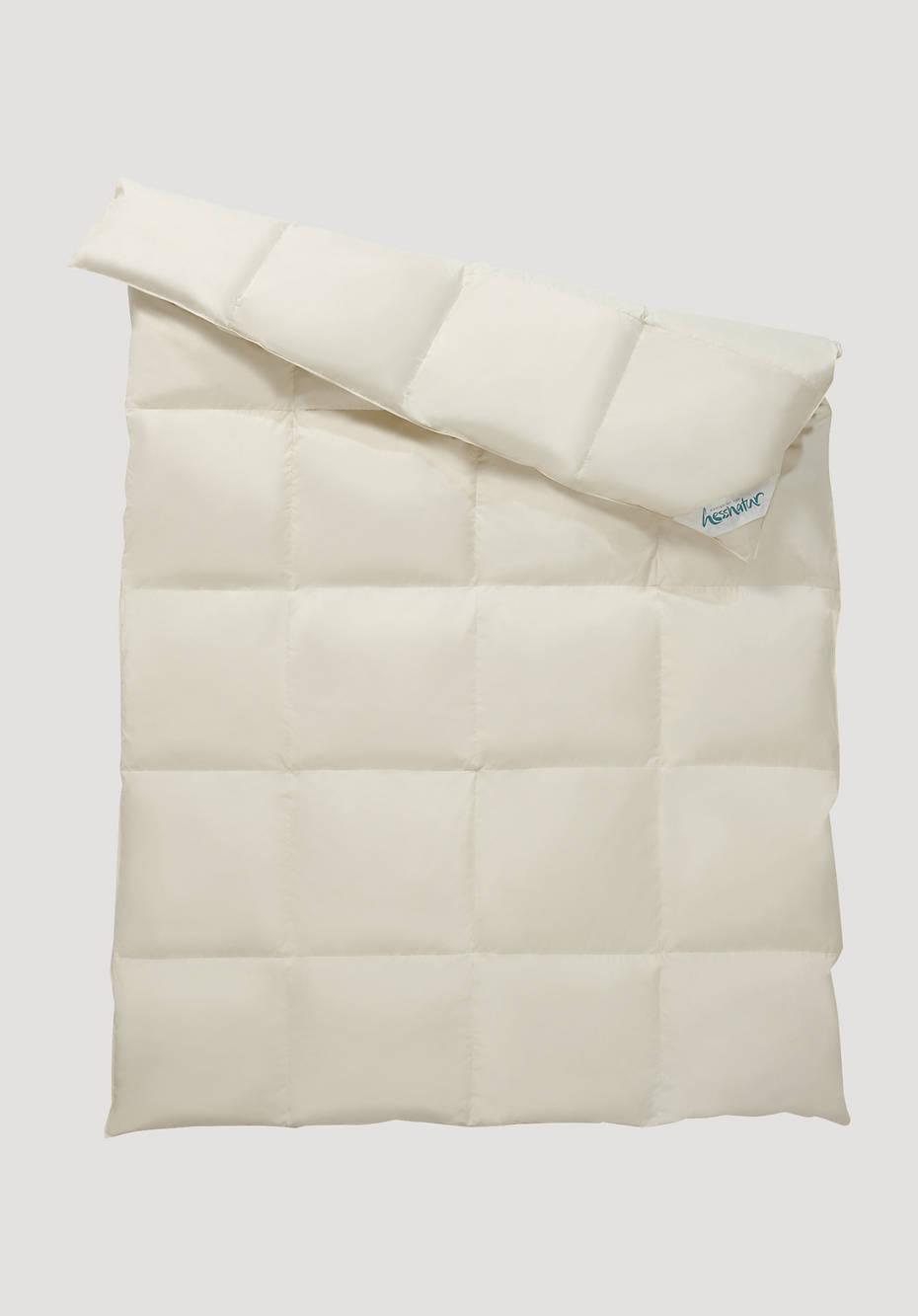 Down comforter very warm
