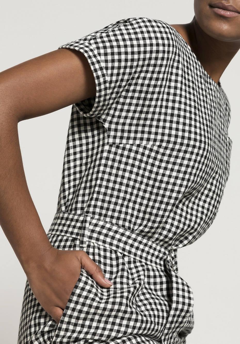 Dress made from pure organic linen