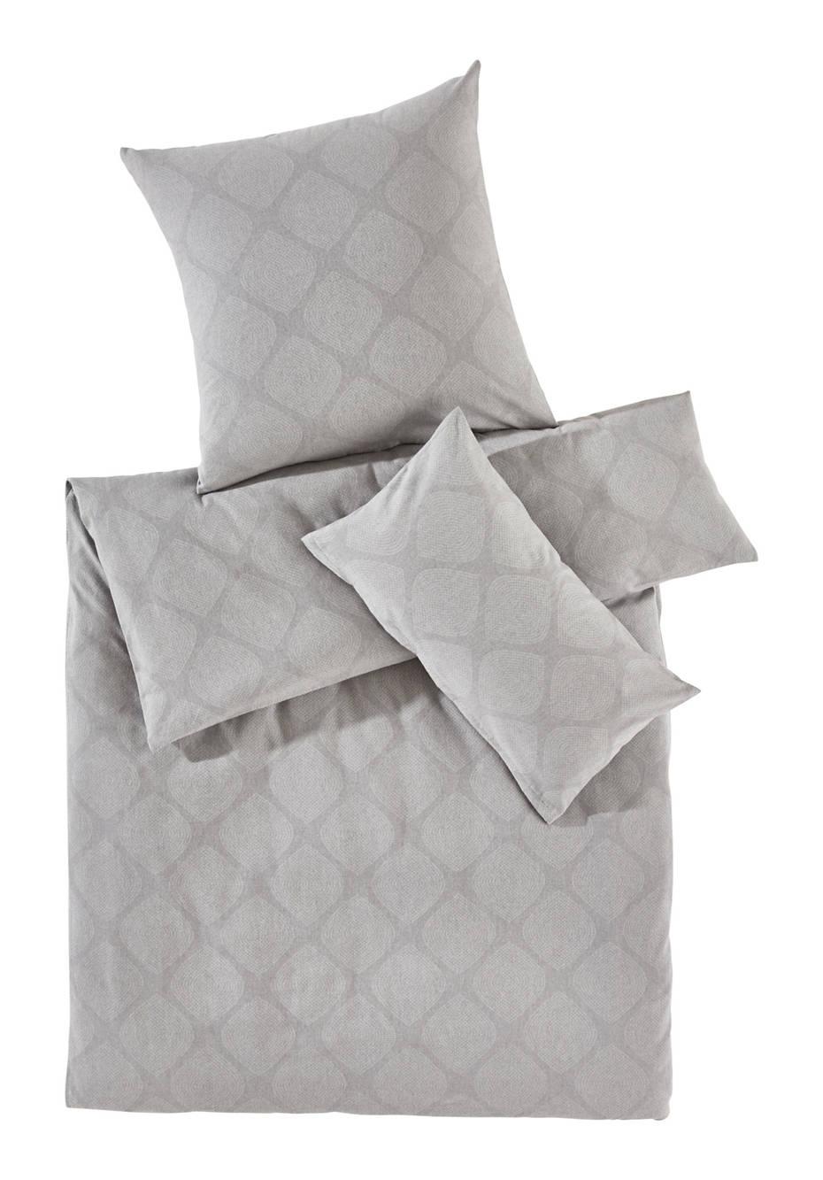 Flanell-Bettwäsche Puntangoli aus reiner Bio-Baumwolle