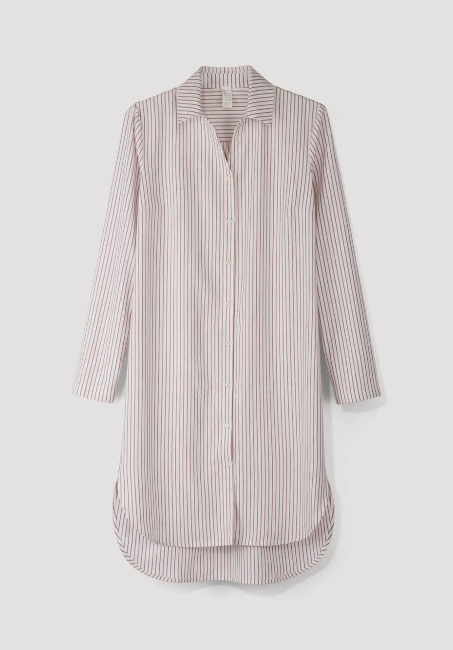 Flanell-Nachthemd aus reiner Bio-Baumwolle