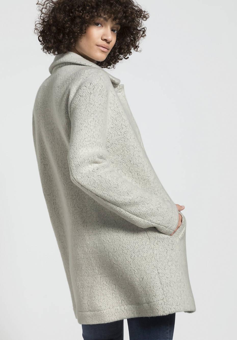 Fleece-Jacke aus Bio-Schurwolle mit Bio-Baumwolle