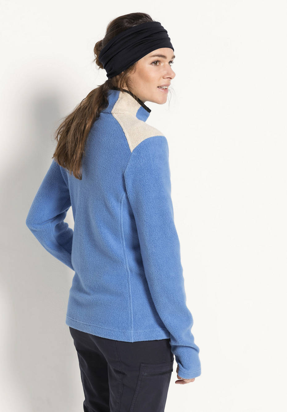 Fleece-Jacke aus reiner Bio-Baumwolle