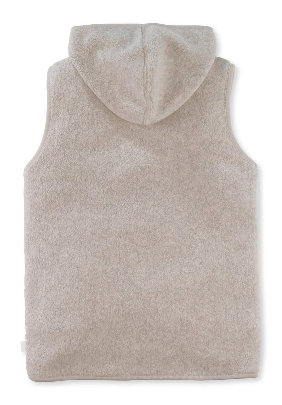 Fleece-Weste aus reiner Bio-Baumwolle