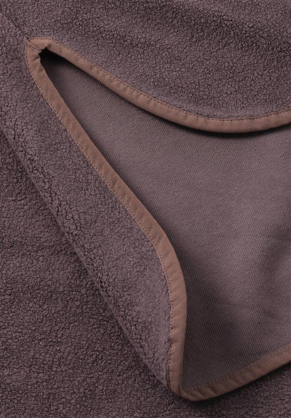 Fleece hoodie made of pure organic cotton