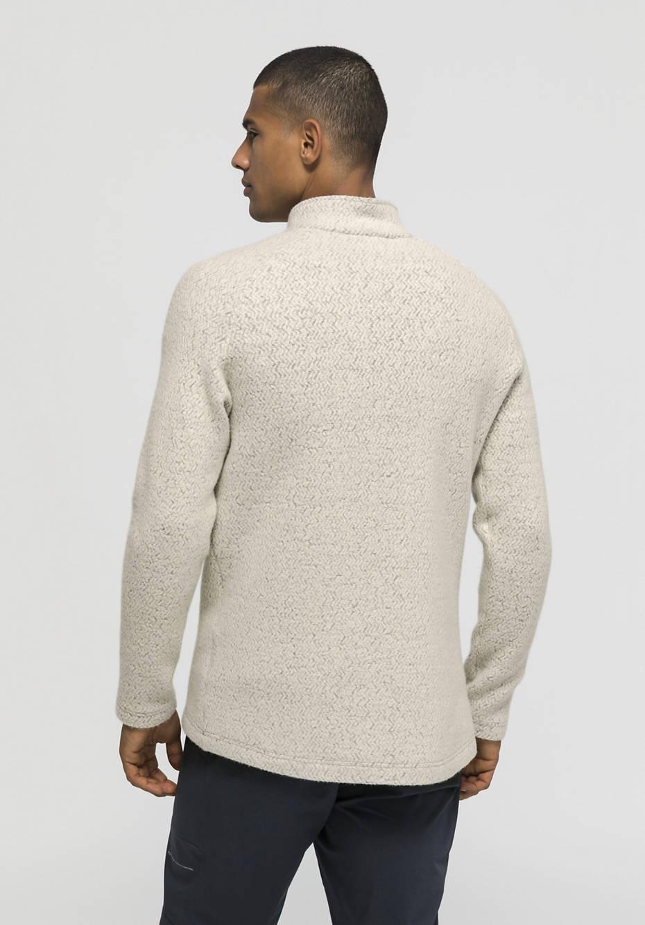 Fleece troyer made of organic merino wool and organic cotton