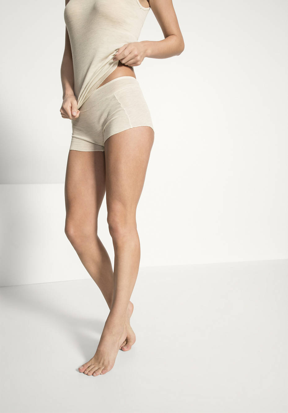 French-Shorts PureWOOL aus Bio-Merinowolle mit Seide