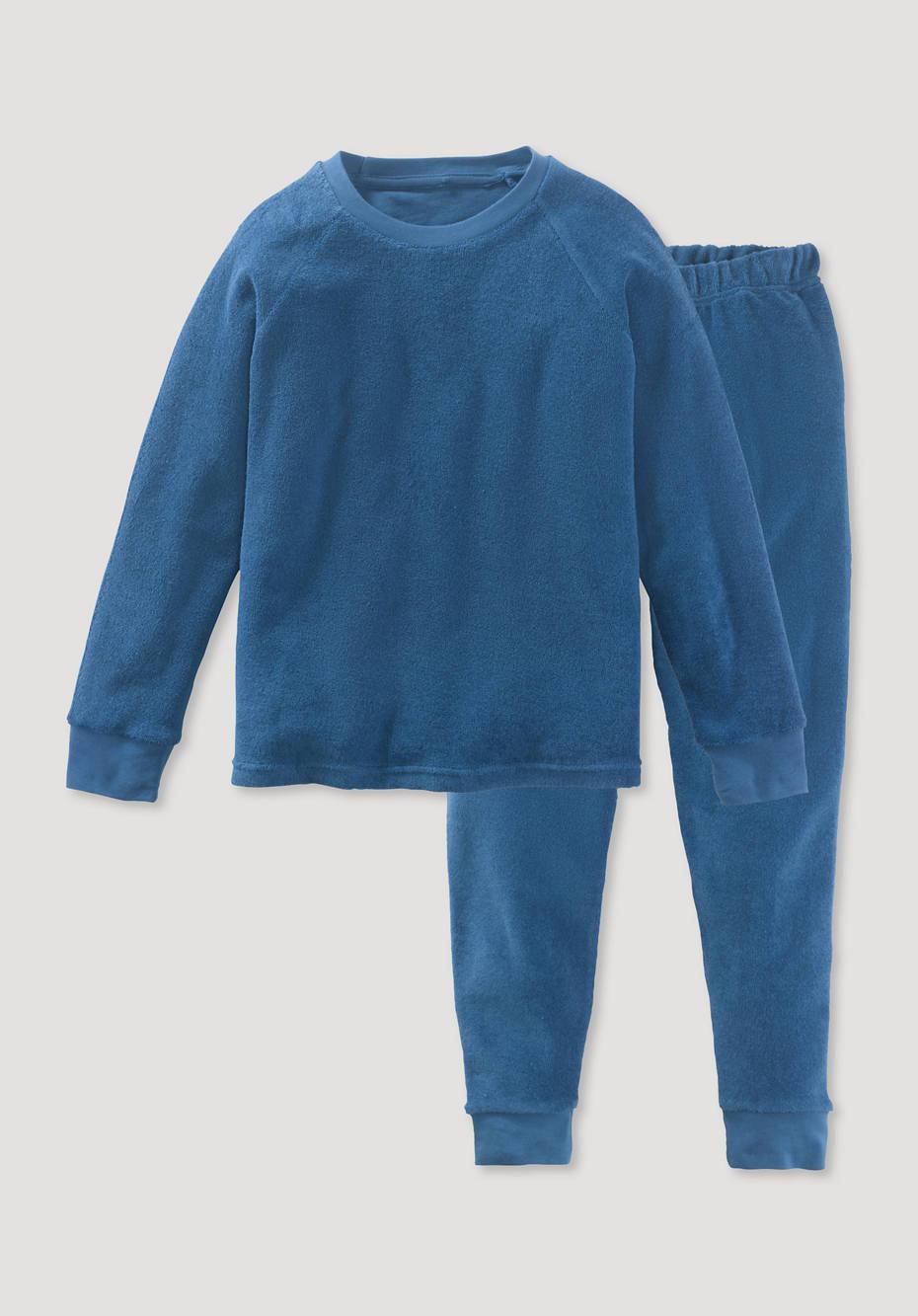 Frottee Pyjama aus reiner Bio-Baumwolle
