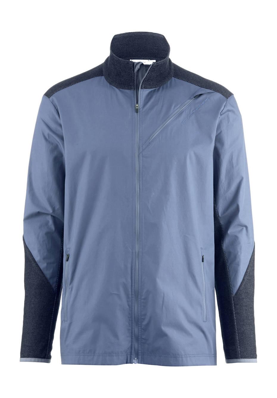 Functional jacket made of organic merino wool with organic cotton
