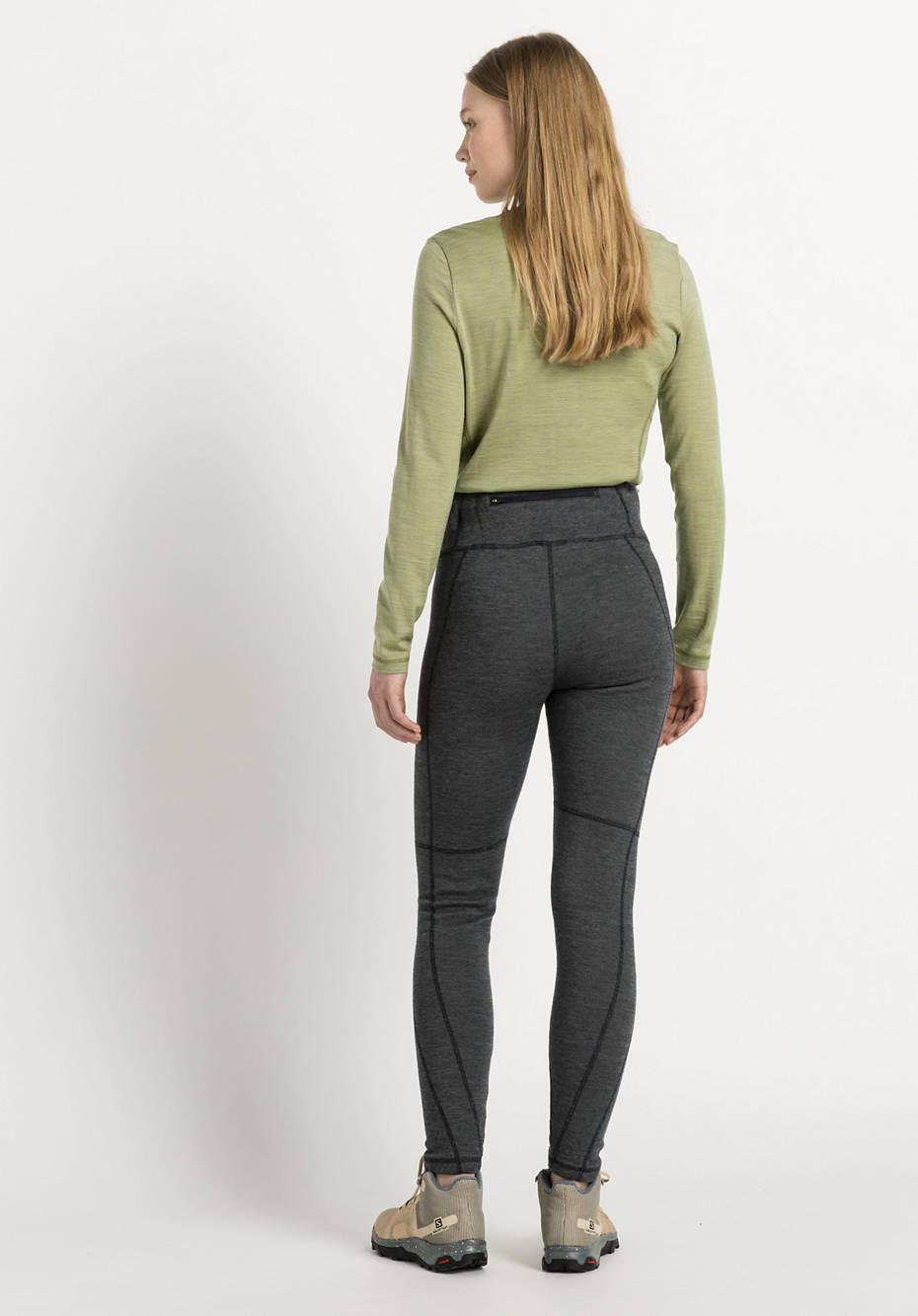 Functional leggings made of organic merino wool with organic cotton