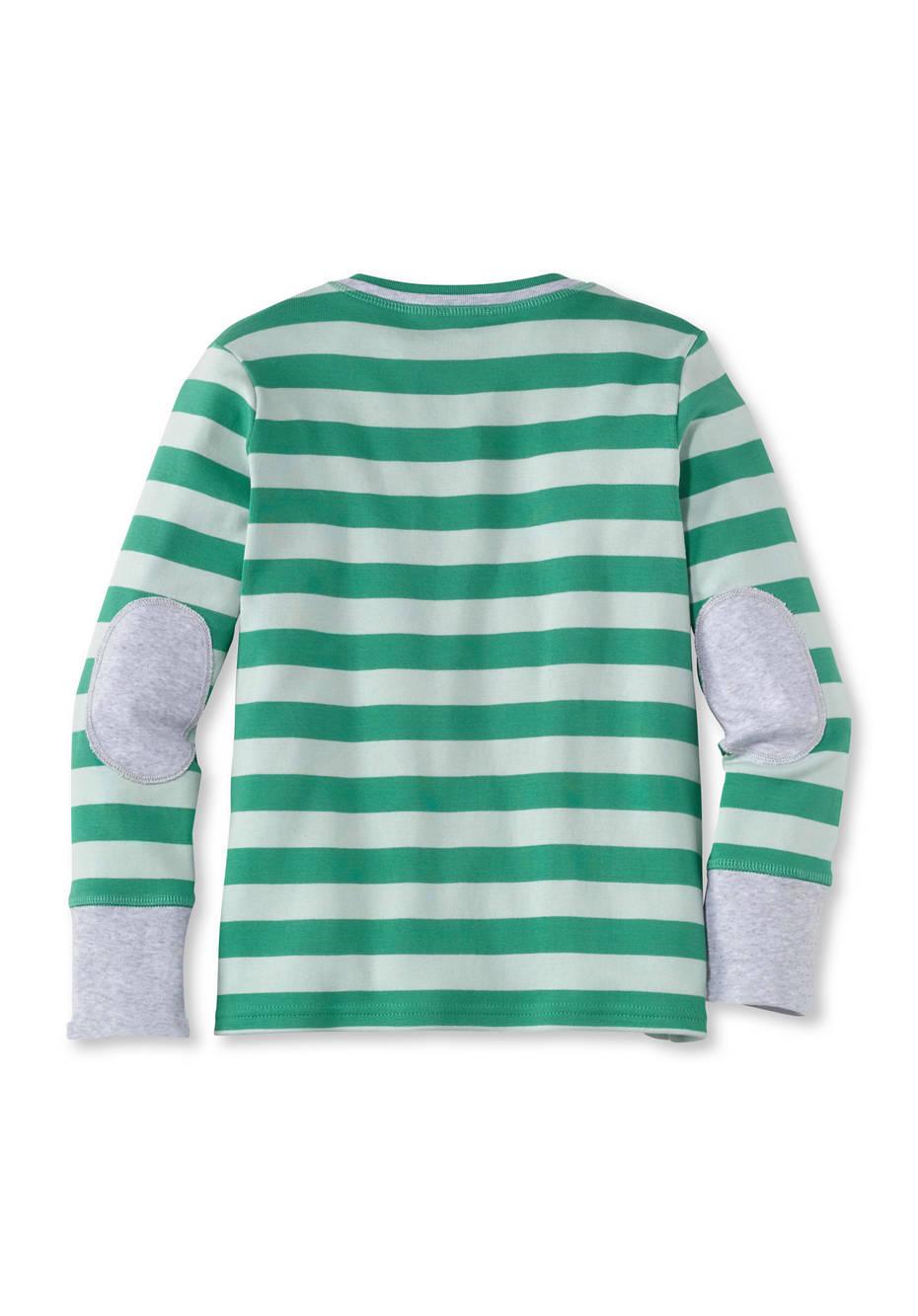 Geringeltes Shirt mit Patches