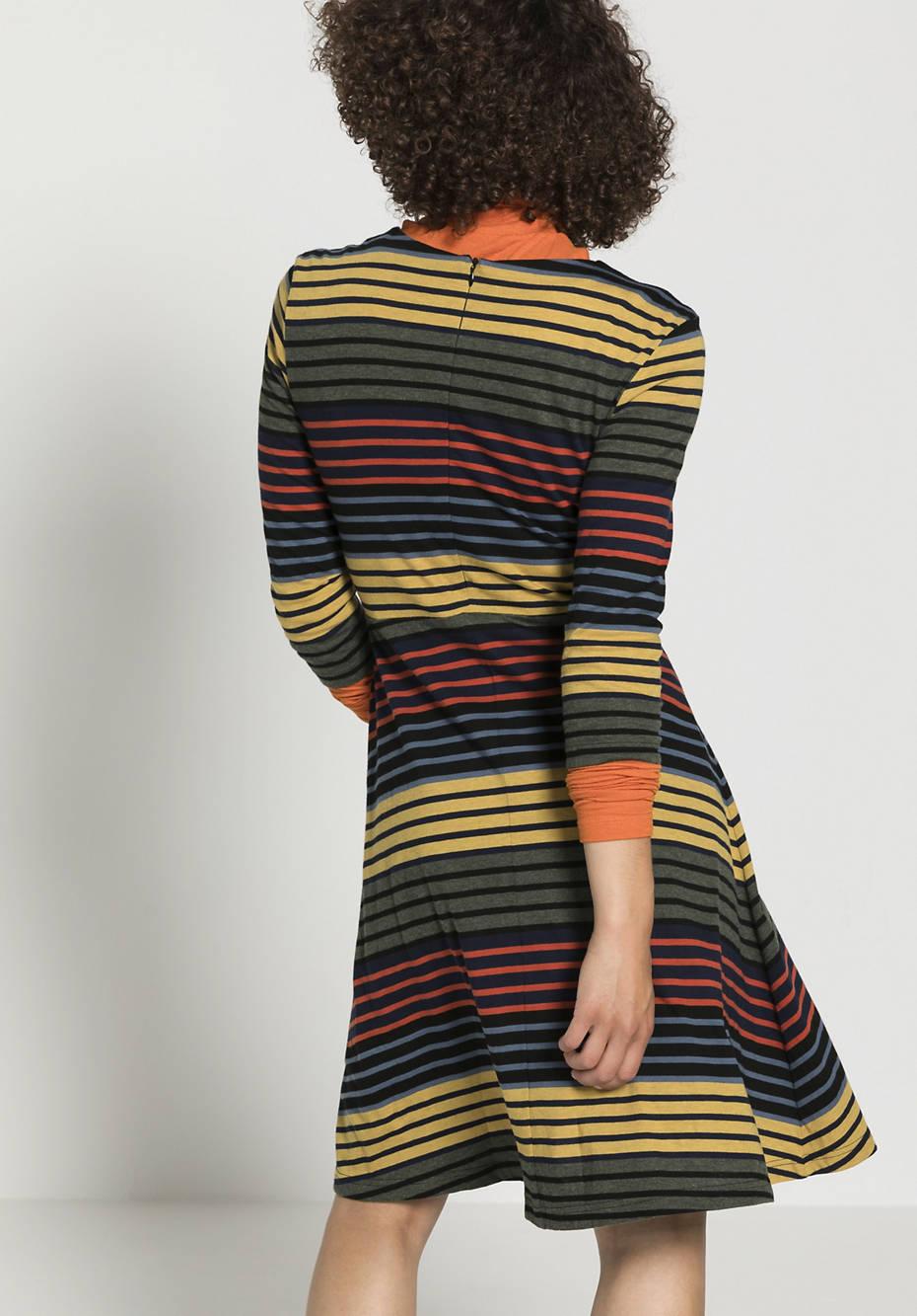 Gestreiftes Kleid aus reiner Bio-Baumwolle
