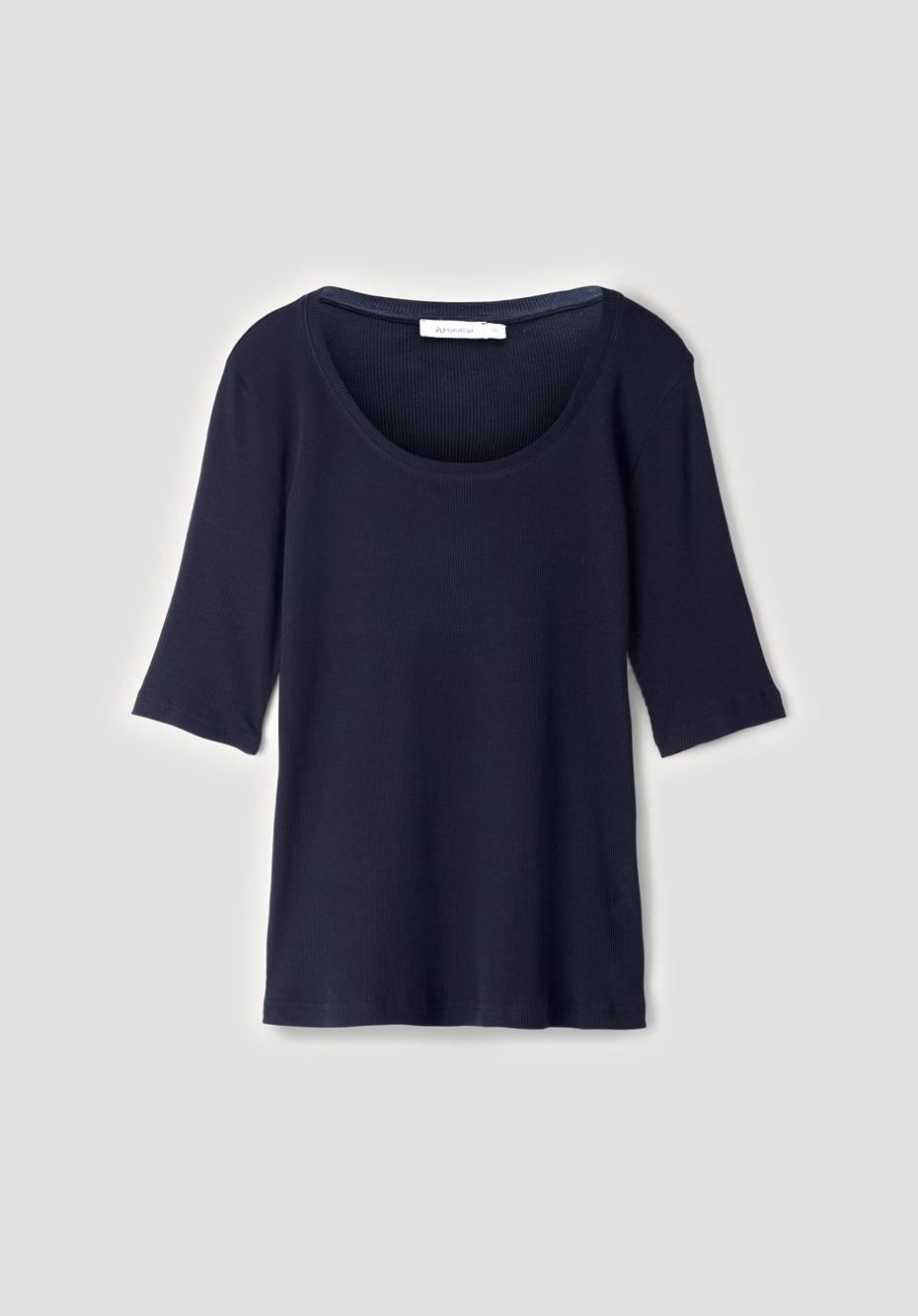 Halbarm-Shirt aus reiner Bio-Baumwolle
