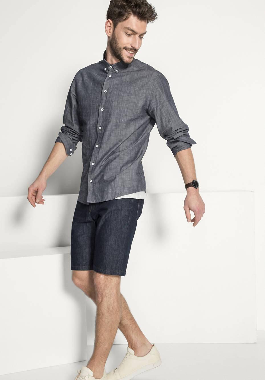 Hemd Comfort Fit aus Bio-Baumwolle mit Leinen from Hessnatur