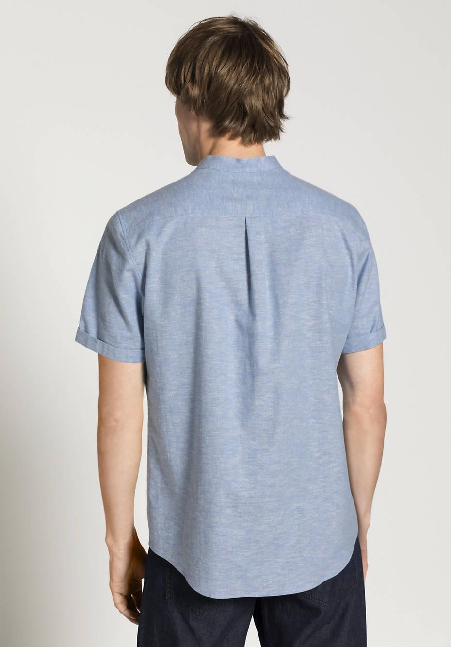 Hemd Comfort Fit aus Bio-Baumwolle mit Leinen-Kapok-Mix
